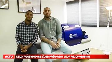 Deux Rugbymen utilisent la technologie MBST
